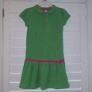 Gymboree girls Tulips Polo Dress sz 9